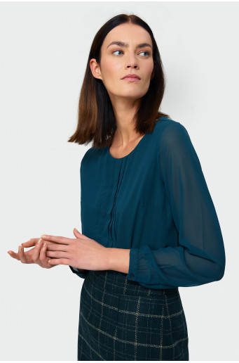 Smart pleated blouse