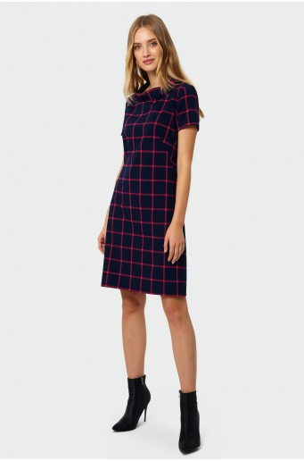 Straight chequered dress