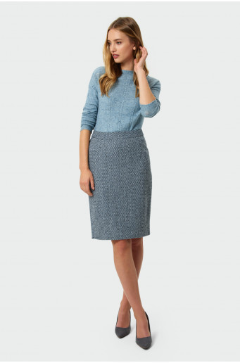 Warm pencil skirt