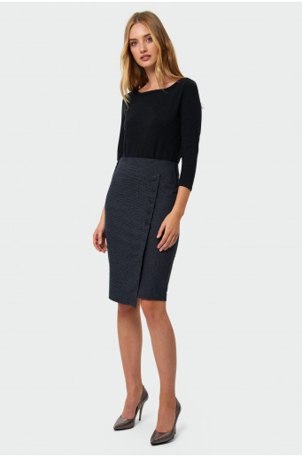 Wrapped gather skirt