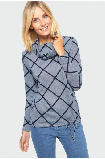 Patterned turtleneck sweater