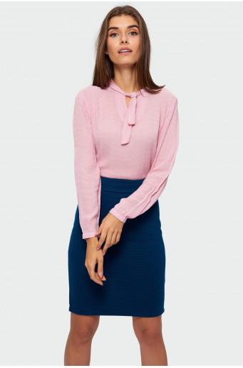 Decorative tied smart blouse