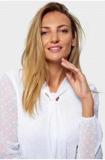 White tied blouse