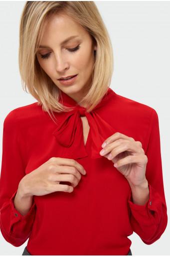 Decorative tie blouse