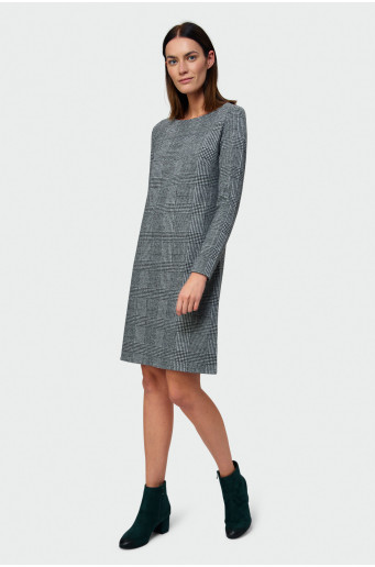 Chequered straight dress