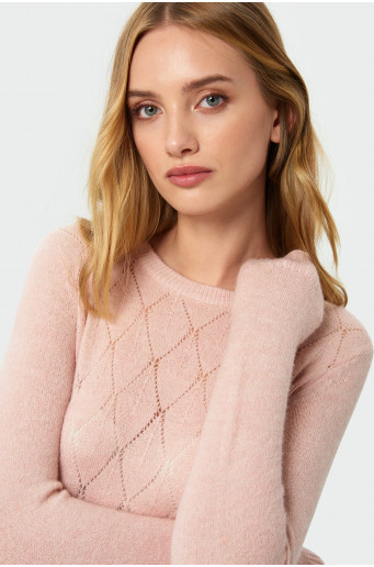 Skin-tight soft  sweater