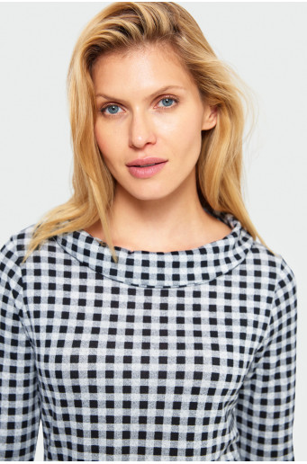 Chequered sweater
