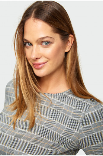 Chequered rayon blouse