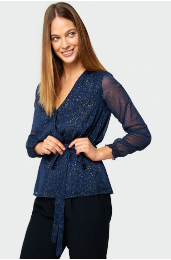 Wrapped-up  blouse
