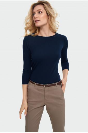 Decorative neckline blouse