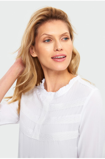 Laced, ruched blouse