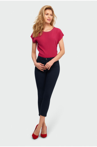 Cotton trousers 7/8