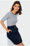Pencil buttoned skirt