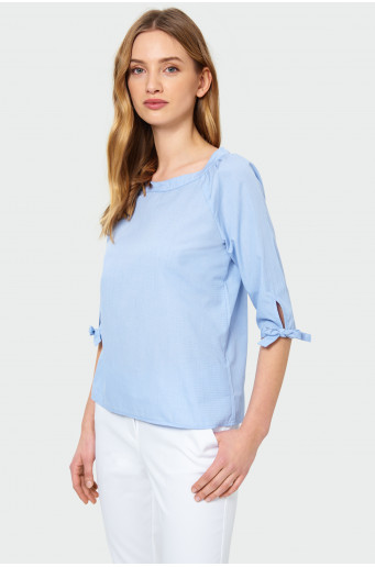 ¾ sleeves blouse