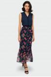Long frilled skirt