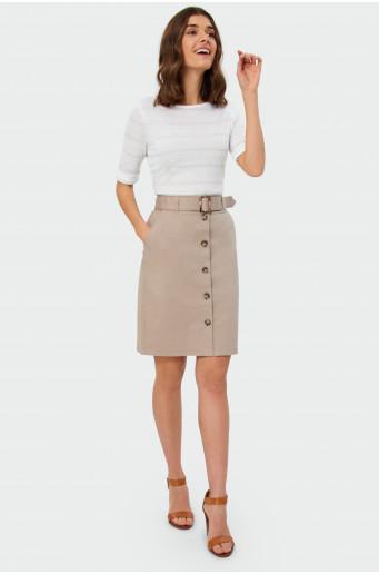 Pouzdrová sukně s knoflíky