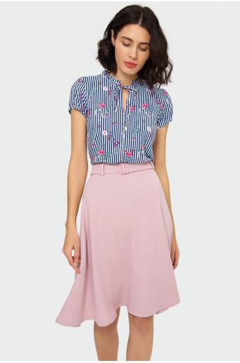 Flared belt skirt