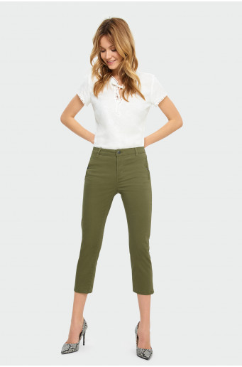 Cotton 7/8 trousers