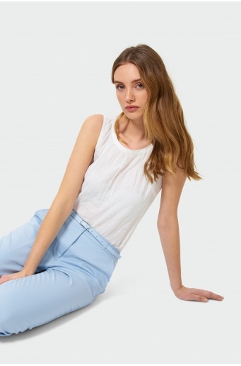 Cotton sleeveless blouse