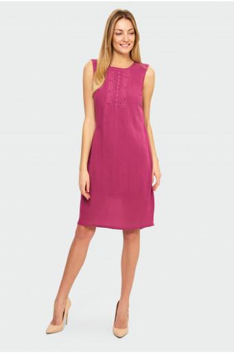 Decorative insert rayon dress