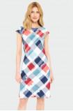 Cotton chequered dress