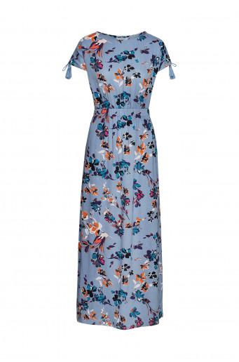 Viskózové šaty s potiskem