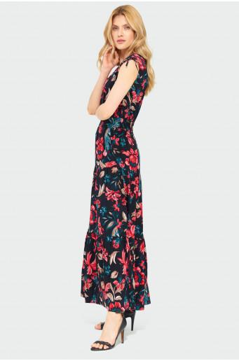 Viskózové dlouhé šaty