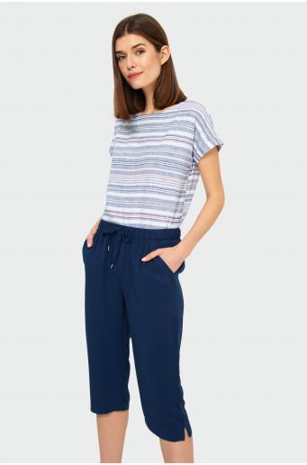 Linen striped blouse