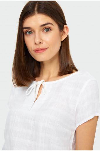 Tied neckline smart blouse