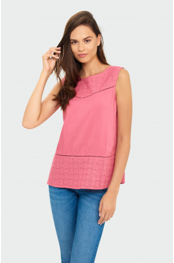 Decorative inserts blouse
