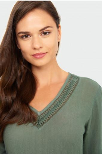 Decorative insert blouse