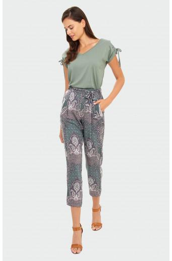 Elegantní kalhoty s potiskem