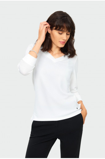 Structural knit blouse