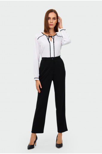 Smart high waist creased trousers