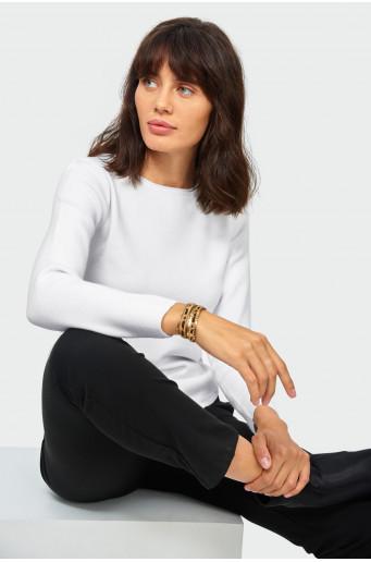 Classic white soft sweater