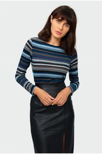 Ladies' striped sweater