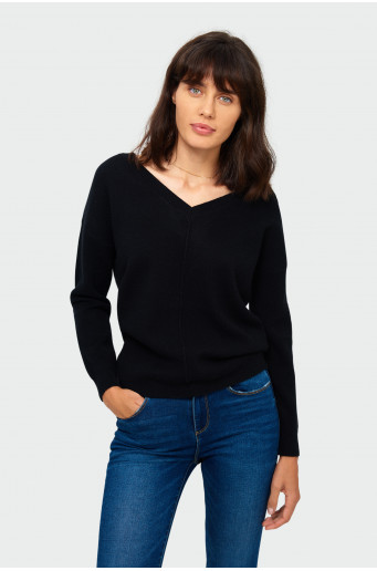 Loose black soft sweater