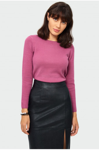 Classic violet soft sweater