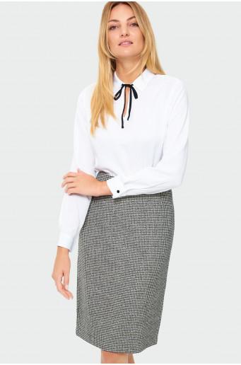 Viscose neckline tie blouse