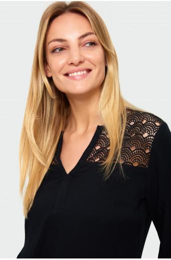 Viscose lace blouse
