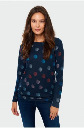 Sweter o prostym kroju z nadrukiem