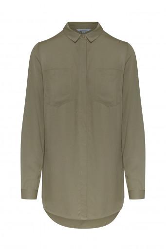 Viscose patch pockets shirt