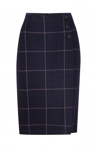 Pencil chequered skirt