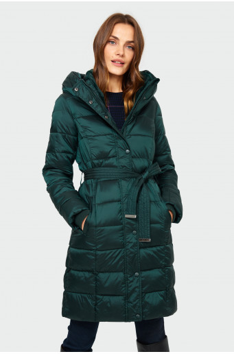 Quilted hood coat