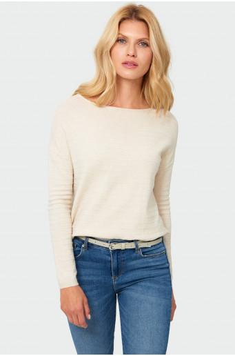 Drawcord nude sweater