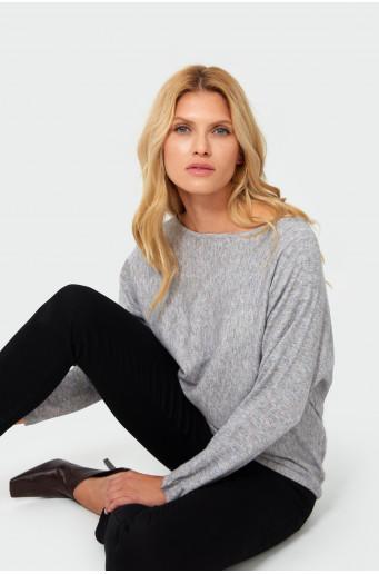 Loose melange grey sweater
