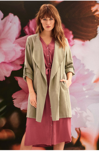 Viscose loose jacket