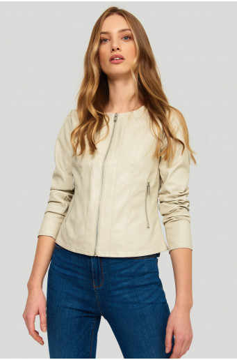 Eco leather jacket