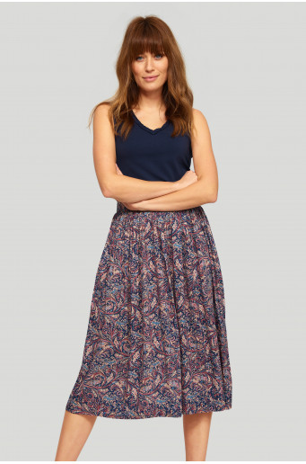 Viscose paisley skirt