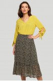 Frilled printed skirt